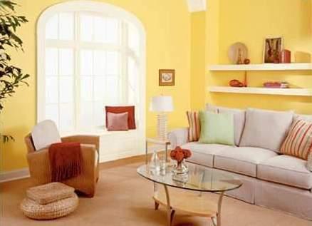 La decoraci n con el color amarillo for Colores de oficina feng shui