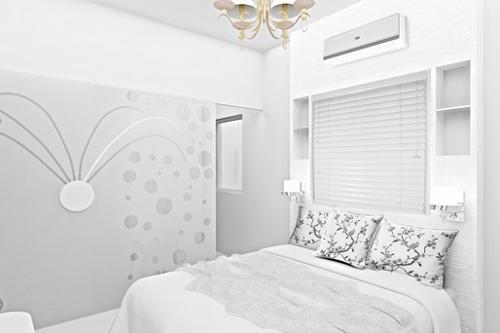 Blanco negro y gris para habitaciones modernas for Recamaras blancas modernas