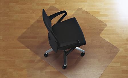 Protector suelo para las sillas de despacho y el parquet - Protector de suelo ...