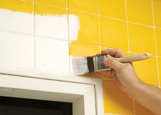 Pintar los azulejos del ba o para redecorar - Pintar azulejos bano ...