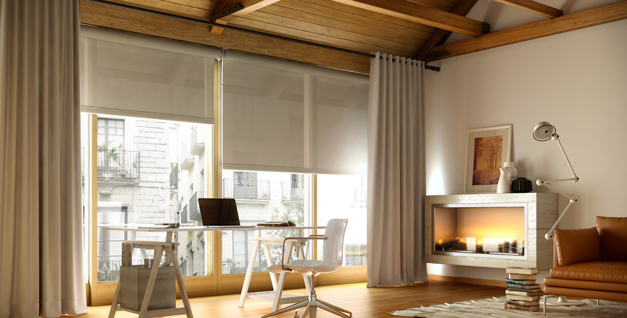Elegir el tipo de cortina o estor acertados for Cortinas y visillos salon